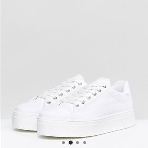 ASOS chunky platform lace up sneaker